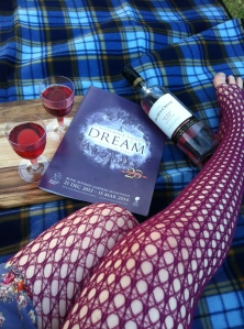 A Midsummer Night Picnic, rug, rosé and Roslyn legs!